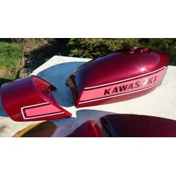 Kit peinture kawasaki 400 S3A 75  Candy super red