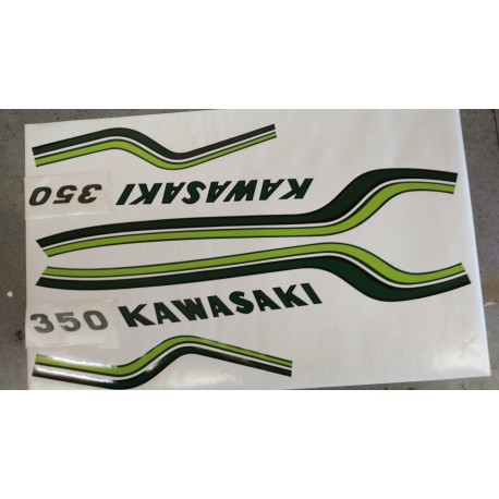 Déco Kawasaki 350 S2 Candy Pearl White