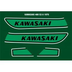 Déco Kawasaki 400S3 1975