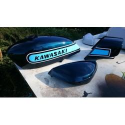Kit peinture kawasaki 400 S3A 74 Candy blue