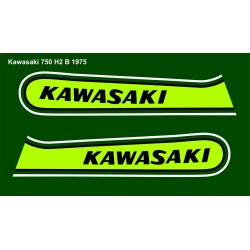 Déco Kawasaki 750 H2 1974 Green