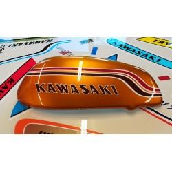 kawasaki 750 h2 72 ,demi réservoir fibre coté gauche,taille réelle,pearl candytone gold