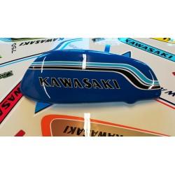 kawasaki 750 h2 72 ,demi réservoir fibre coté gauche,taille réelle Pearl candytone blue